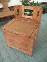 KURIÓZUM! Antik szecessziós tárolós ülőke / pad VINTAGE célokra , előkészítve, lecsiszolva, alapozva