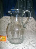 Retro üveg kancsó - egy literes