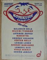 KOMIKUSOK KABARÉJA PLAKÁT HUNYADY FILMSZÍNHÁZ 1957