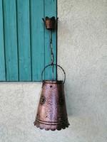 Kézi kalapált kézműves vörösréz sárgaréz lámpa csillár