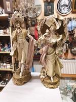 2db régi német porcelán figura