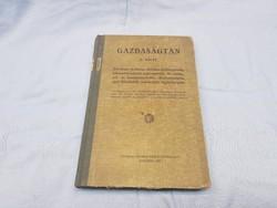Gazdaságtan 1935 ből könyv