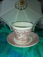 Angol jelenetes porcelán teás ,kávés szett.