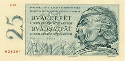Csehszlovákia 25 korona 1958 UNC