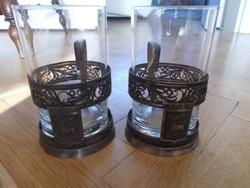 Antik orosz teás pohár párban 2.
