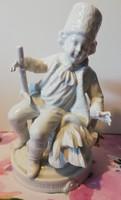 Nagyméretű, Unterweisbach porcelán szobor