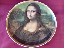 182  Mona Lisa festett Plankenhammer Floss Bavaria falitányér 26 cm
