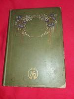Antik 1908 Benedek Elek:Uzoni Margit könyv szép illusztrációkkal dombor bőr kötésben