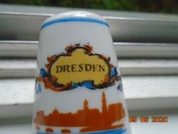 DRESDEN Drezda souvenir porcelán sószóró