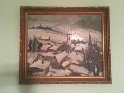 Bányász Béla festmény (60x50 cm)