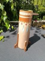 Eichwald, Szecessziós, Art Deco váza szines!