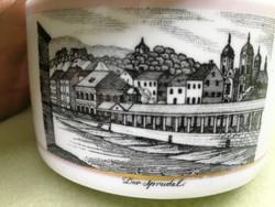 Ritka jelzés. Luppert& Haas Schlaggenwald, különleges bonbon, cukortartó, doboz, városkép.