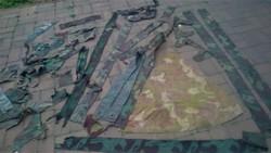 II.vh magyar,olasz álcadarabok,2kg!!!,minden lehetséges árnyalatban, WH,Waffen XX, Horthy,katonai