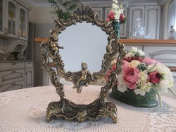 Gyönyörű figurás réz tükör