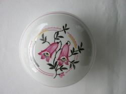 Zsolnay porcelán harangvirágos bonbonier vagy ékszertartó doboz
