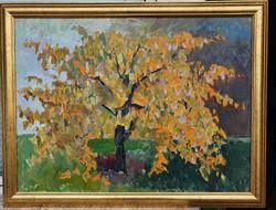 Schéner Mihály (1923 - 2009) Magányos fa