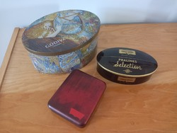 Három darab fém csokoládés, süteményes doboz