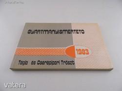 Tégla és Cserépipari Tröszt Gyártmányismertető 1983
