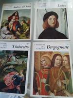 I maestri  del colore képeskönyv sorozat 16 kötete: olasz + németalföldi  festészet 1980
