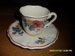 Sarreguemines-i francia fajansz csésze aljjal