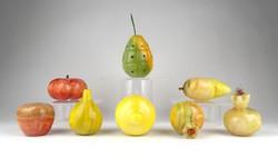 1A696 Csiszolt színes ásvány gyümölcs készlet 8 darab