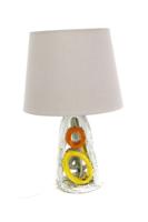 Kerámia asztali lámpa, 1970 körüli, iparművészeti retro kerámia