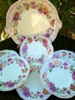 Zsolnay Pillangós süteményes készlet