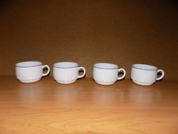 Francia kék szélű fehér kávéscsésze készlet 4 db (1/K)