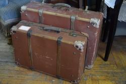 Antik bőrönd szett