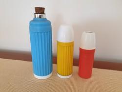 Retro italos termosz színes műanyag termoszpalack 3 db