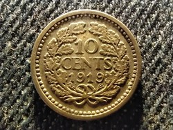 Hollandia I. Vilma (1890-1940 és 1945-1948) .640 ezüst 10 Cent 1919 (id26764)