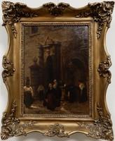 Jelzett kép Nők a kútnál, olajfestmény