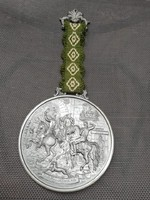 BMF West Germany ón lovas jelenetes fali dísz 29 cm