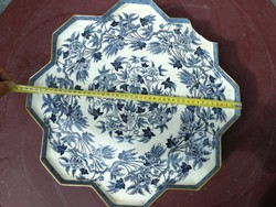 Óriási antik hihetetlen Mutatós kináló dúsan festett, jelzett! Asztal dísze lehet, sőt használatra!!