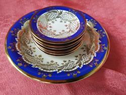 Alka 6+1 darabos aranyozott porcelán készlet