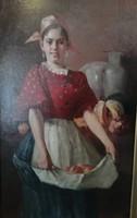 Karvaly Mór (1860 - 1899) festmény