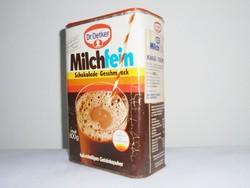 Retro Dr. Oetker Milchfein kakaó italpor kakaó por papír doboz - 1980-as évekből