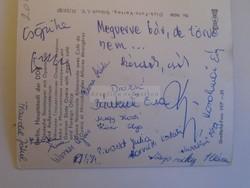 G029.91 BERLIN - aláírás  Női tornaválogatott Bánkuti Pacsai Kövér Martini Werner 1969