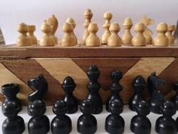 Régi intarziás fa sakk