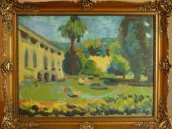Eladó Kossuth-díjas Schéner Mihály: Kastélypark című festménye