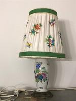 Herendi Viktória mintás lámpa selyem lámpaernyővel P269