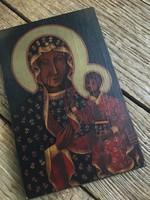 Fára kézzel festett cseh ikon