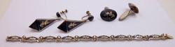 Ezüst ékszer szett 925-ös különleges női Sziám (Thaiföld)