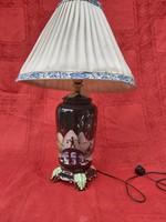 Antik Drasche lámpa, keleti dekorral. 1940