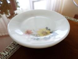 Négy darabos őszi mintájú angol  tejüveg, jénai  süteményes tányér.