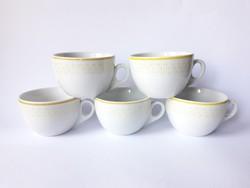 Zsolnay retro porcelán csésze szett - 5 db cappucinós csésze, kávéscsészék