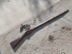 Kovás muskéta, puska, a Napóleoni háborúk idejéból