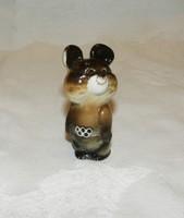 Orosz porcelán Misa mackó az 1980-as olimpia kabalafigurája. 7 cm