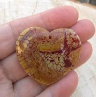 Sárkányvéna achát sárga-vörös szív medálgyöngy