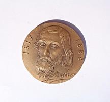 Jelzett orosz bronz plakett